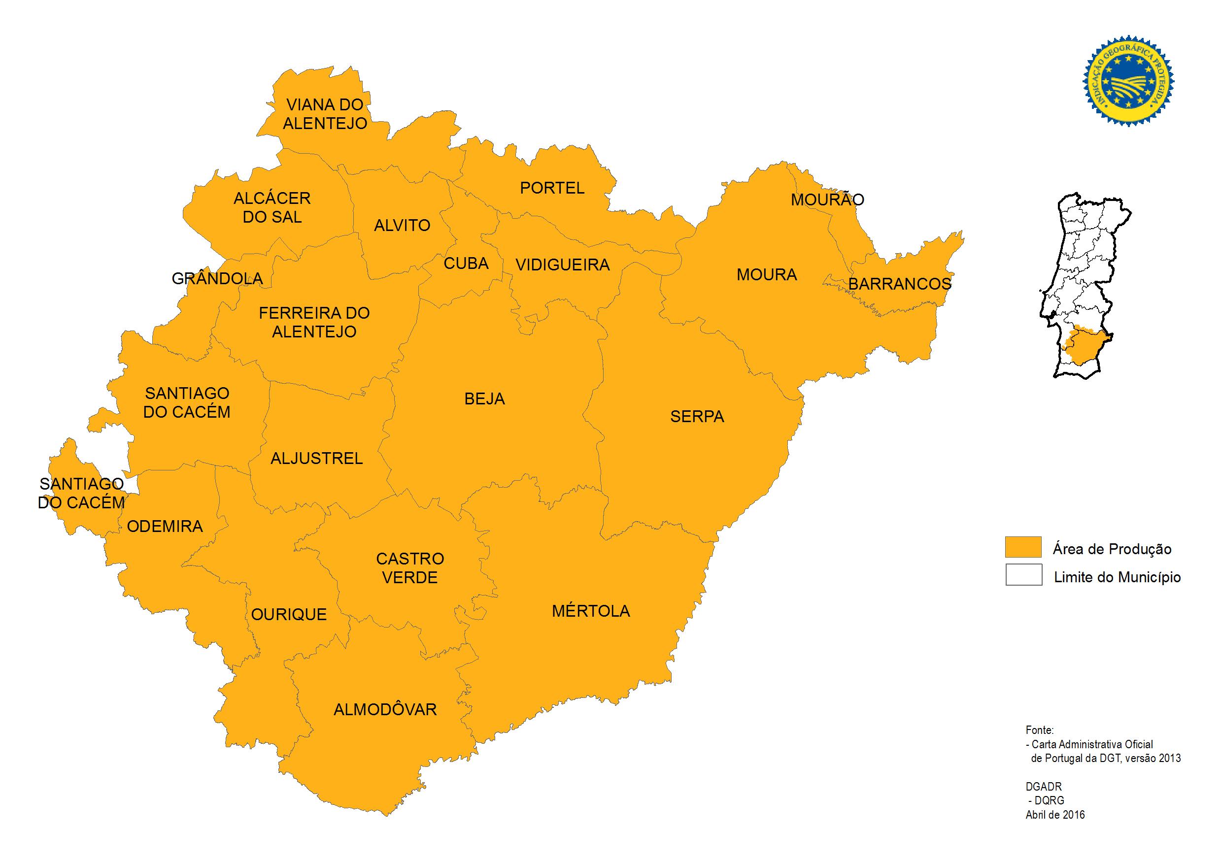 baixo alentejo mapa Produtos Tradicionais Portugueses   Borrego do Baixo Alentejo IGP baixo alentejo mapa